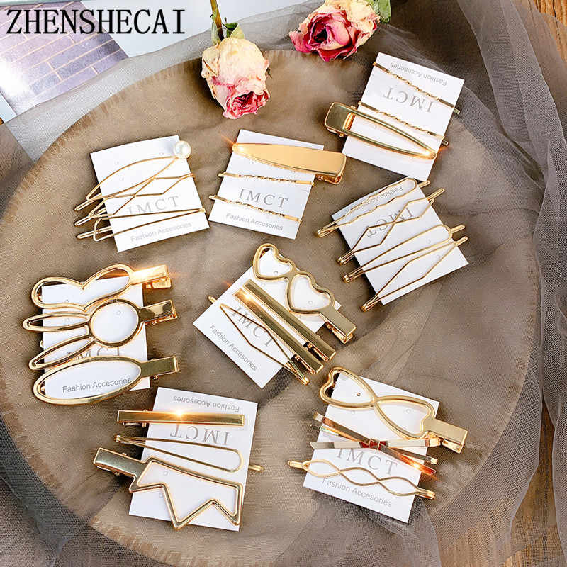 2019 Pearl Hair Clips For Women Girls Gold Color Bowknot Hairpins Set Fashion Female Hair Jewelry Korea Wedding Elegant Gifts