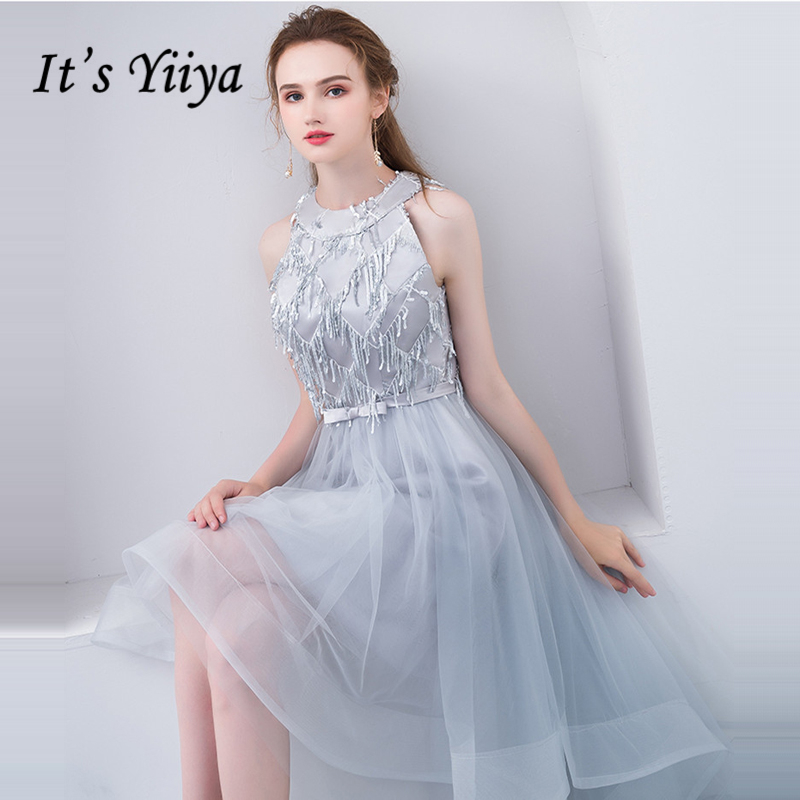 Its Yiiya Prom Dresses Sleeveless Girls Prom Gowns Bling Sequined
