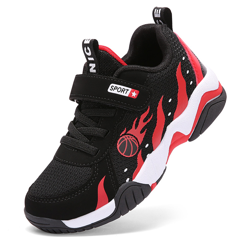 Boys Basketball Shoes Soft Sole Non-slip Breathable Kids Sneakers Children Sport Shoes Outdoor Child Trainers Shoes Basket Boy