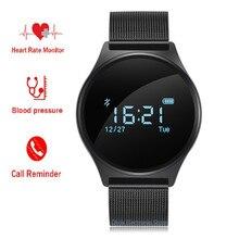 M7 Ronda Bluetooth Reloj Inteligente A Prueba de agua Monitor de Presión Arterial Monitor de Ritmo Cardiaco Sport Pulsera Smartwatch para Android IOS