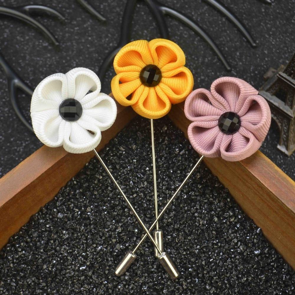 Mens jacket brooch - Mdiger Brand Fashion Mens Pin Brooches Wedding Party Fabric Brooch Flower Corsage Jacket Lapel Pin Brooches