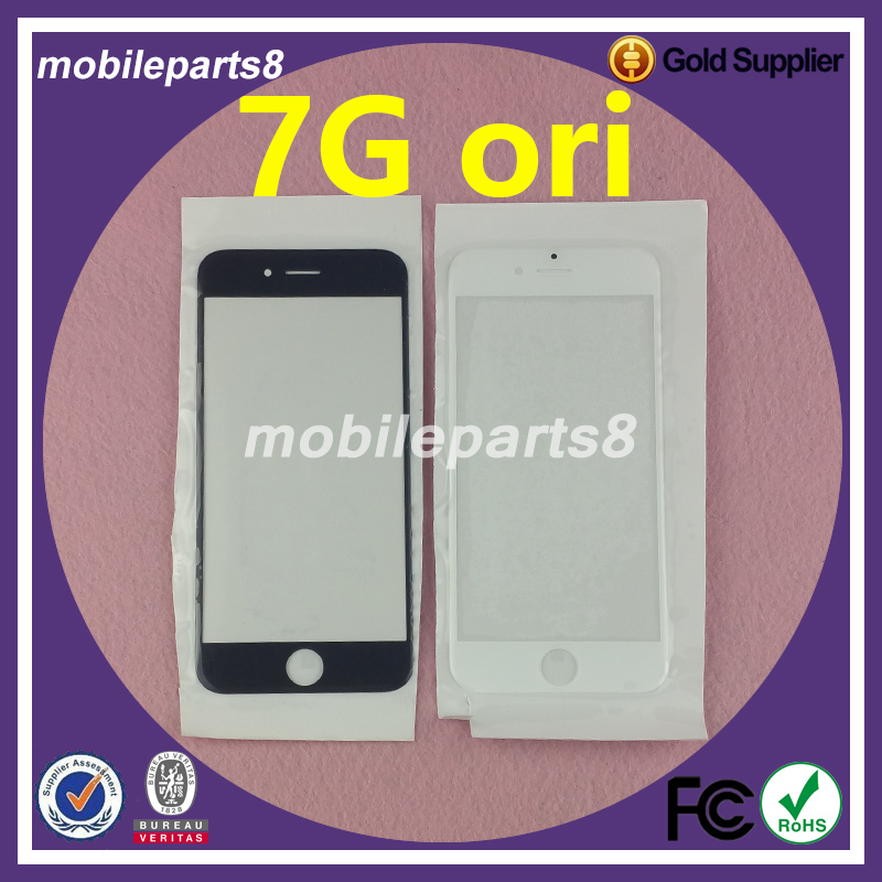 10pcs/lot Fress shipping fee touch screen glass (not digitizer)for iPhone 7 Front Screen Outer Glass Replacement ori