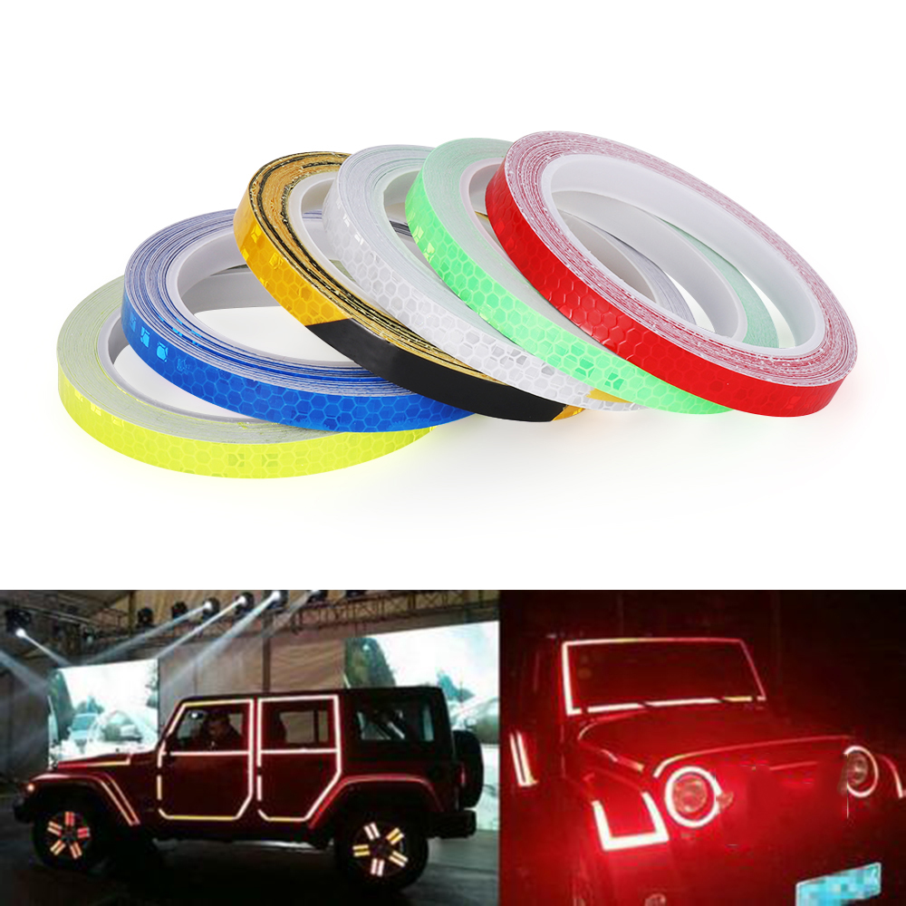 1 Roll Reflective Stickers 8M Safety Auto Car Bicycle Cycling Reflector Tape