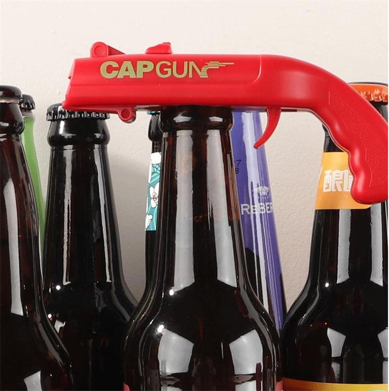 Image 4 - Creative Portable Beer Opener Cap Gun Bottle Opener Beer Bottles Open Capgun Drink Opening Shooter Bar Outdoor Celebration Tools-in Openers from Home & Garden