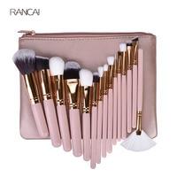 15pcs Pink Makeup Brushes Set Pincel Maquiagem Powder Eye Kabuki Brush Complete Kit Cosmetics Beauty Tools