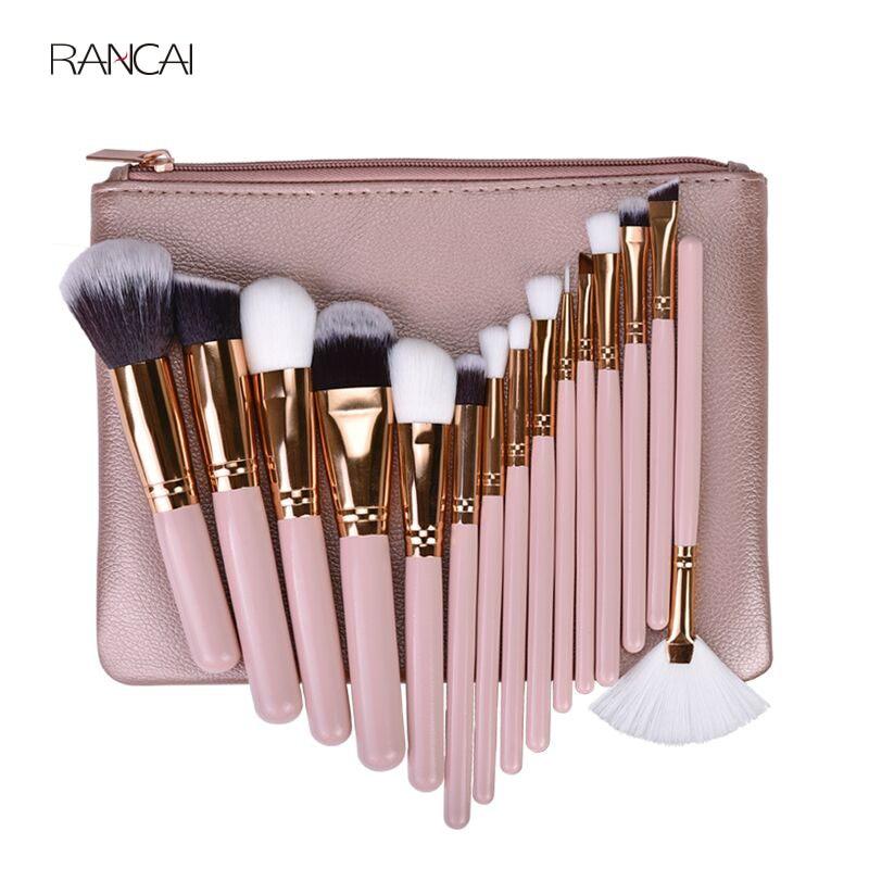 15pcs Pink Makeup Br...