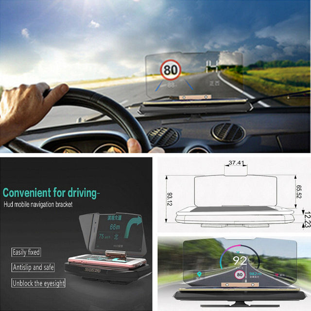 2017 GULYNN New arrive Universal mobile phone support Navigation Mount Car GPS HUD Head Up support Projection Display Holder OEM