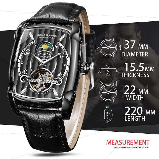 Automatic Skeleton Mechanical Tourbillon Wrist Watch 2