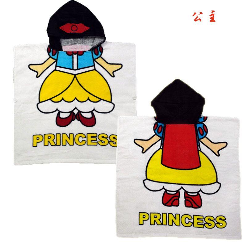 Мультяшные халаты «Алиса» для мальчиков и девочек, «Белоснежка», «динозавр», «панда», «машинка», «робот», милое детское банное полотенце, детский банный халат, пижама - Цвет: princess