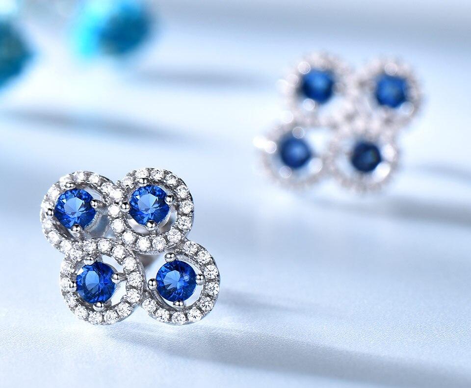 sapphire stud earrings for women fin jewelry (4)