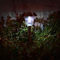 2pcs Solar LED Light Outdoor Solar Lawn Garden Lights Landscape Path Stake Solar Lamp Plastic LED