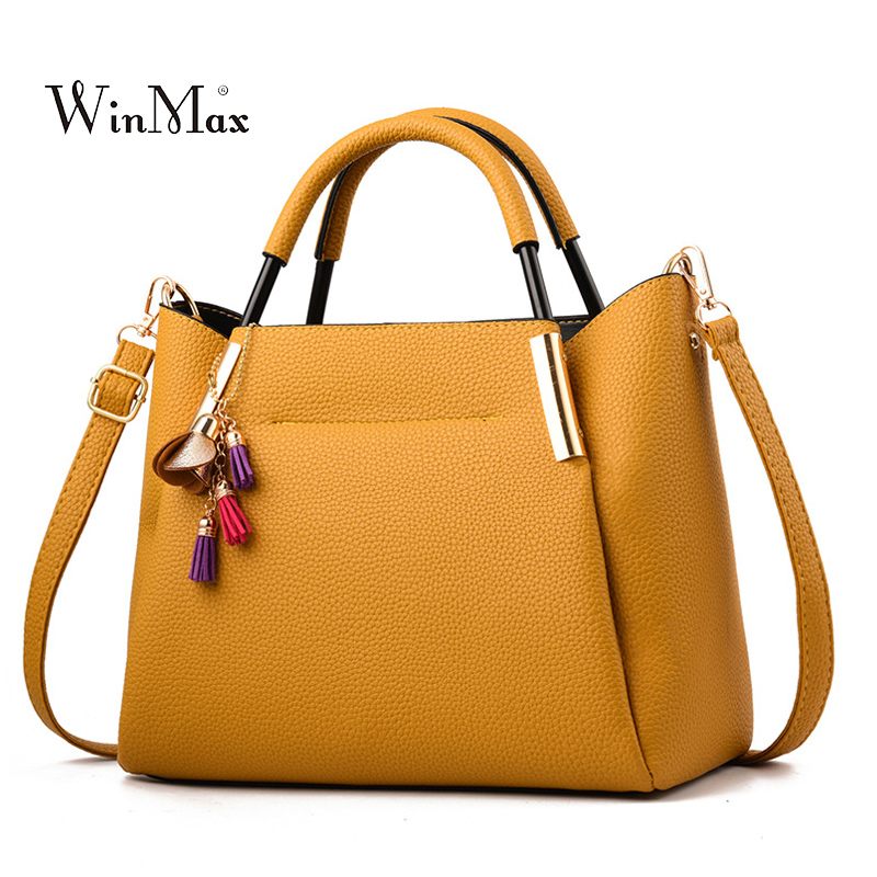 2018 New Tassel Leather Handbags Women Famous Brand Shoulder Bag Female Casual Tote Bag For Women Messenger Bag Bolsas Fashion new fashion women messenger bags famous brand casual tote bag women handbags genuine leather luxury designer shoulder bag bolsas