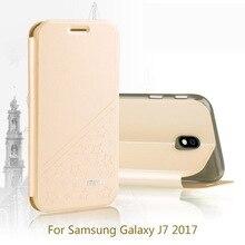 bfafc32de7a Caso para Samsung Galaxy J7 2017 MOFI PU cubierta de cuero para Samsung  Galaxy J7 2017 Eurasia edición libro estilo celular caja.