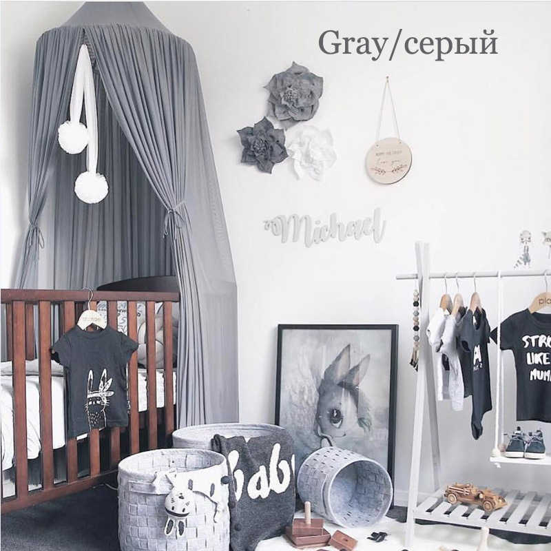 2018 Moustiquaire элегантная детская кровать навес круглая москитная сетка занавеска для детской комнаты декор подвесная кроватная сетка 50*240*260 см палатка