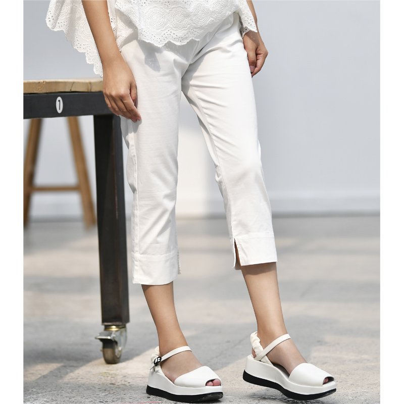 K0826a brief all match solid color skinny pants female 2019