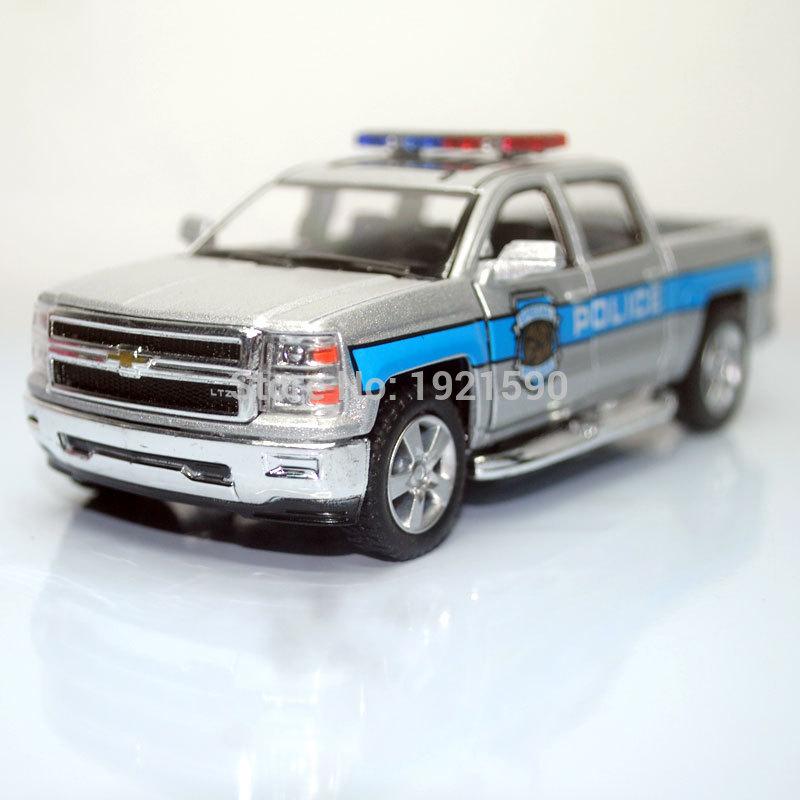 Kt 1 46 Scale Car Toys Police Ver 2014 Chevrolet Silverado Diecast