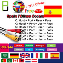 Best CCCAM 7 lines 1 Year CCCam cline for 1 year Spain Poland Portugal Germany Satellite tv Receiver Cccam For DVB-S2 poland 1 750 000