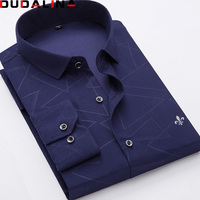 Dudalina 2018 New Arrival Men Shirts Casual Male Dress Long Sleeve Printing Shirt Slim Fit Camisa