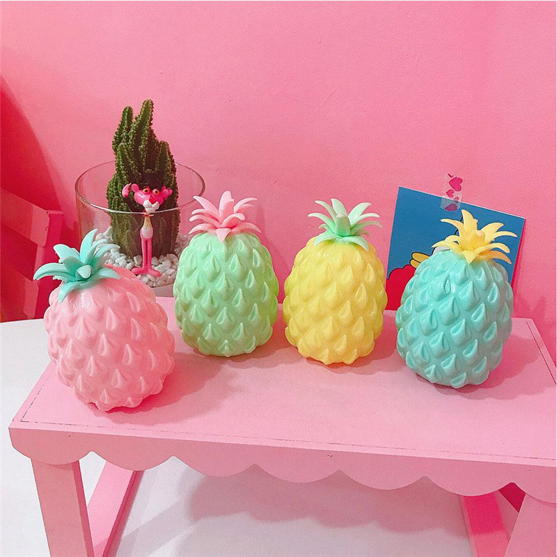 Colorful Squeeze Pineapple Design Ball Antistress Reliever Eliminate Gift Decoration Novelty Gags Children Kids Toy 11cm