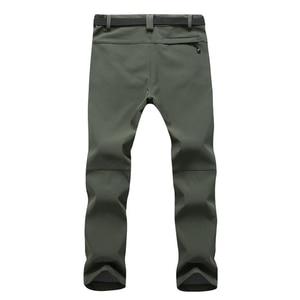 Image 3 - Mountainskin New Mens Winter Softshell Fleece Pants Outdoor Waterproof Hiking Camping Trekking Skiing Male Sport Trousers MA152