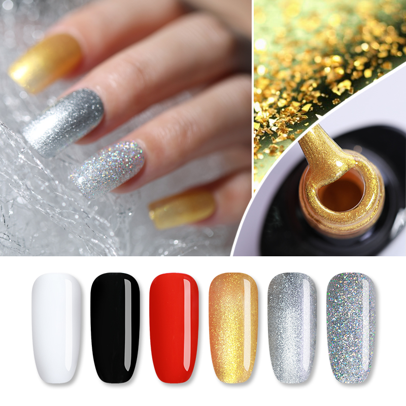 UR SUGAR Pure Classic Color Coat Nail Gel Polish 7.5ml Black White Red Silver Gold Gel Varnish Soak Off UV Gel Nail Art Lacquer