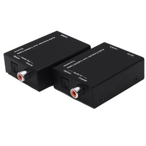 Image 5 - Dźwięk cyfrowy Extender do 300M przez kabel koncentryczny cat5e/6 i przedłużacz Audio Spdif toslink z zasilaczem