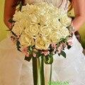 Bouquets De Casamento De Seda Artificial para a Noiva Mão Segurando Flores Artesanais Acessórios Do Casamento Buquê De Noiva Vermelho Azul Royal