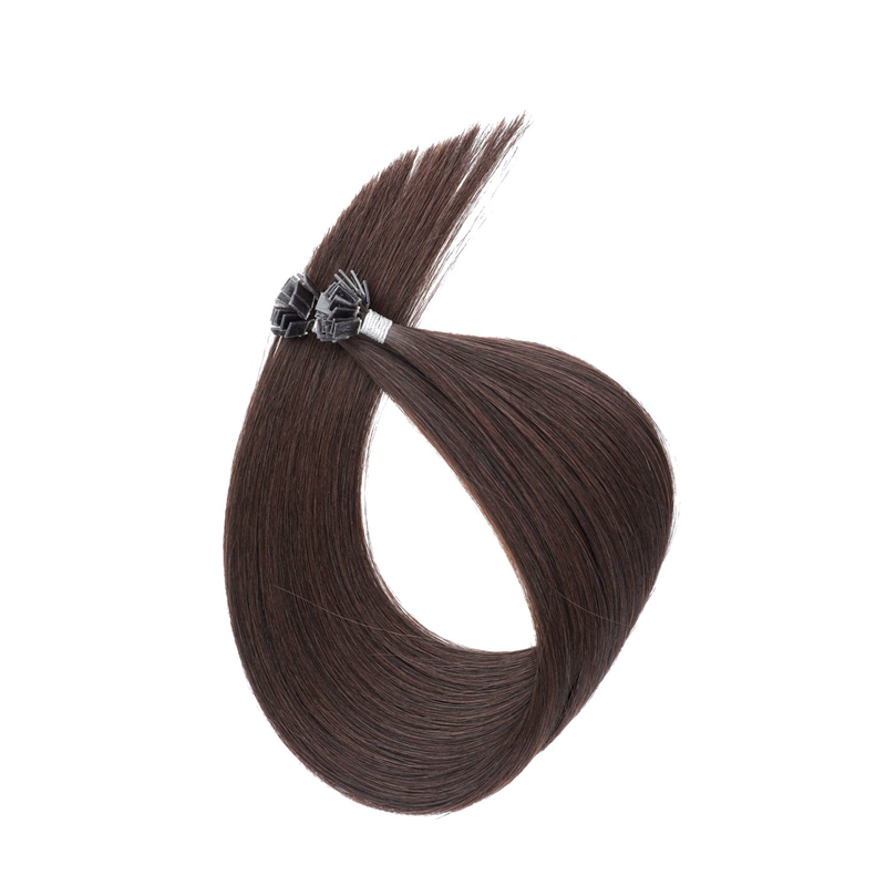 Sobeauty Real Remy Hair Flat Tip Hair Extension Straight Human Hair Extension 20''Color #2 50pcs/Pack Keratin Hair