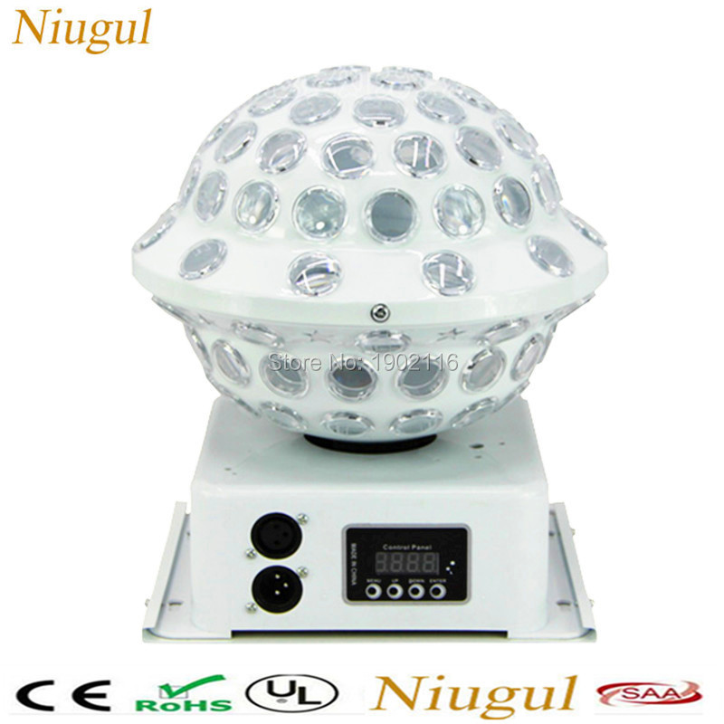 Niugul Crystal Magic Ball Led Stage Lamp 8 Modes Disco Laser Light Sound/Auto Control Christmas Laser Projector KTV Party Lights transctego 9 colors 27w crystal magic ball led stage lamp 21 mode disco laser light party lights sound control dmx lumiere laser