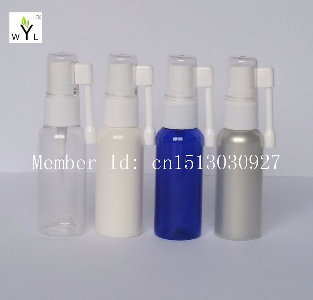 30ml empty Oral Spray Bottle Applicators Rocker Spray Medical Spray Plastic PET Bottle refillable perfume atomizer