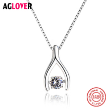 925 Sterling Silver Necklace Fashion Charm Austrian Crystal Pendant Jewelry Woman Necklace все цены