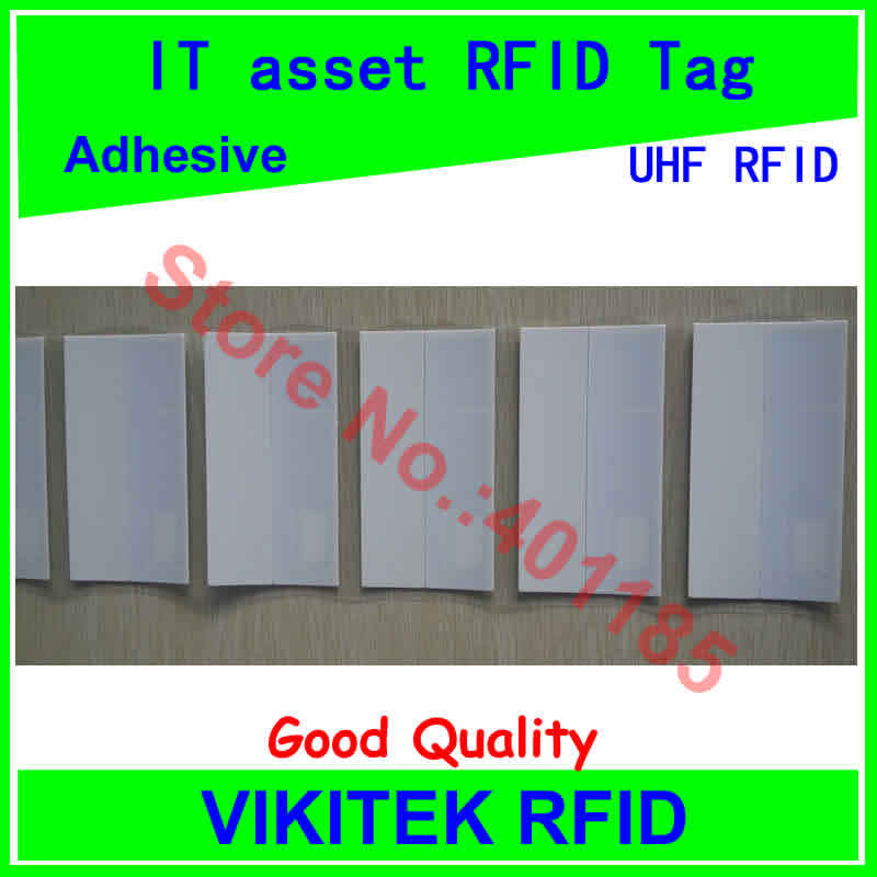 IT asset management UHF RFID tag printable customizable adhesive 860-960MHZ Monza4 EPC C1G2 ISO18000-6C can be use RFID tag labe corporate real estate asset management