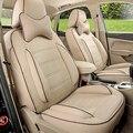 Cubierta de asiento para el BENZ C Class PU de cuero cubierta de asiento de coche transpirable conjunto completo de coche cubre conjunto amortiguador asientos de coche protector negro/beige