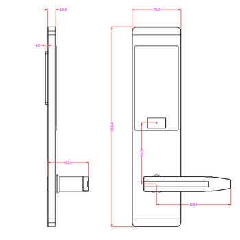 Security Electronic Door Lock, Smart Touch Screen APP WIFI Lock,Digital Code Keypad Deadbolt For Home Hotel Apartment