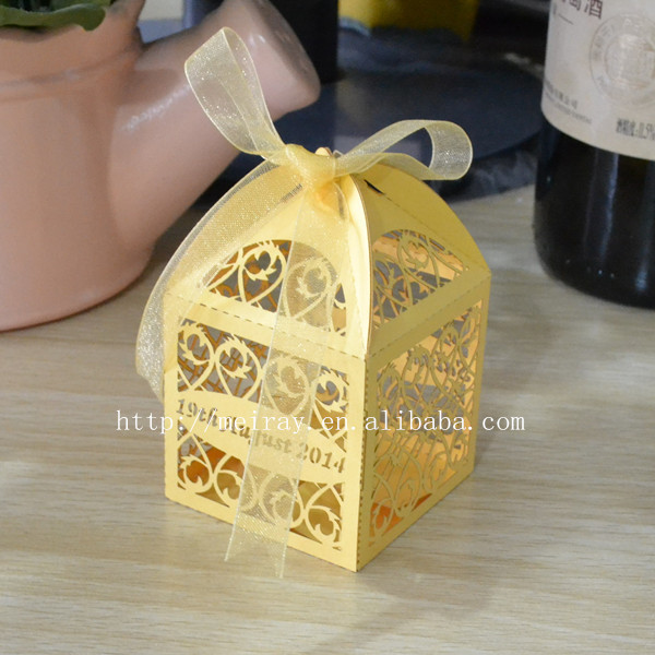 Gold Wedding Gift Box,decorative Indian Sweet Boxes-in