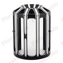 Motorrad Schwarz CNC Aluminium 10-Gauge Ölfilter Abdeckung Für Harley Fatboy FXSB Touring Softail Dyna Twin Cam Modelle DEFINIERT