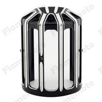 Motorbike Black CNC Aluminum 10 Gauge Oil Filter Cover For Harley Fatboy FXSB Touring Softail Dyna