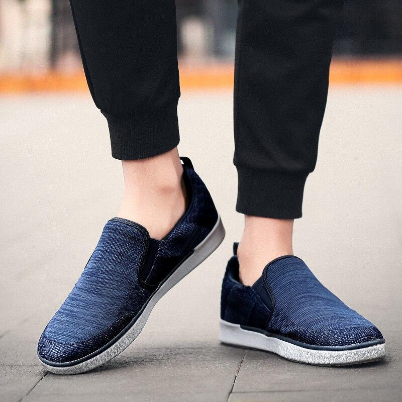 CYYTL Performance Men's Loafers Soft Flyknit Slip-On Walking Shoes Spring Casual Male Sneakers Zapatos de Hombre Erkek Ayakkabi (23) -