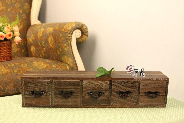 Paulownia caractéristiques de combustion du bois armoire de rangement tiroir boîte de rangement/cinq avec pompage stockage de bureau/stockage en ligne