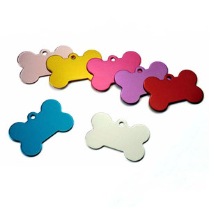Image 3 - Wholesale 100Pcs Personalized Bone Dog ID Tags Customized Cat Puppy Name Phone Pet ID Tags Dog Cat Pet Tag Collar Accessories