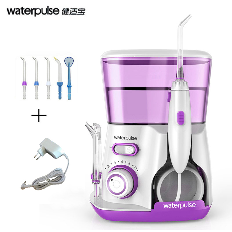 Waterpulse Dental Flosser 800ml Oral Irrigator Water Flosser Irrigator Dental Floss Water Floss Dental Water Oral Irrigation waterpulse dental flosser v300 800ml dental irrigator powerful flosser dental water jet oral hygiene water tooth flosser