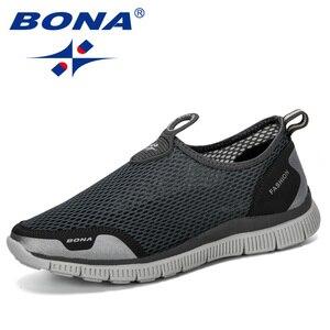 Image 5 - BONA 남성 통기성 캐주얼 신발 Krasovki Mocassin Basket Homme 편안한 스니커즈 신발 Chaussures Pour Hommes Mesh Shoe