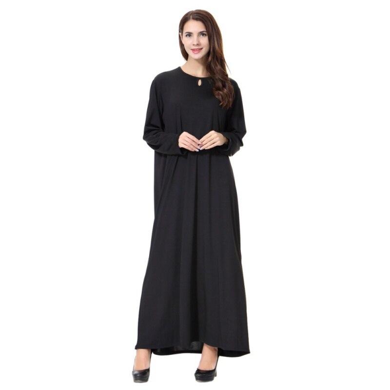 0985e386e1 Chic Maxi Abaya Dress Women Muslim Long Islamic Robe Kimono Instant Hijab  Arab Turkish Worship Prayer Garment Simple Style Y6
