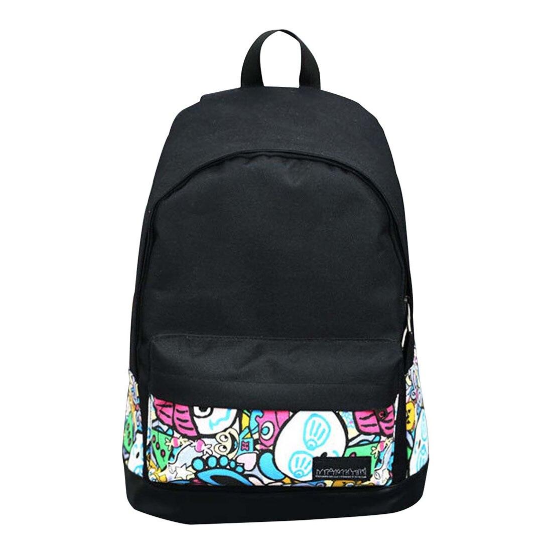 Обувь для девочек Для женщин холст школьная сумка Дорожная Рюкзак сумка рюкзак черный 3