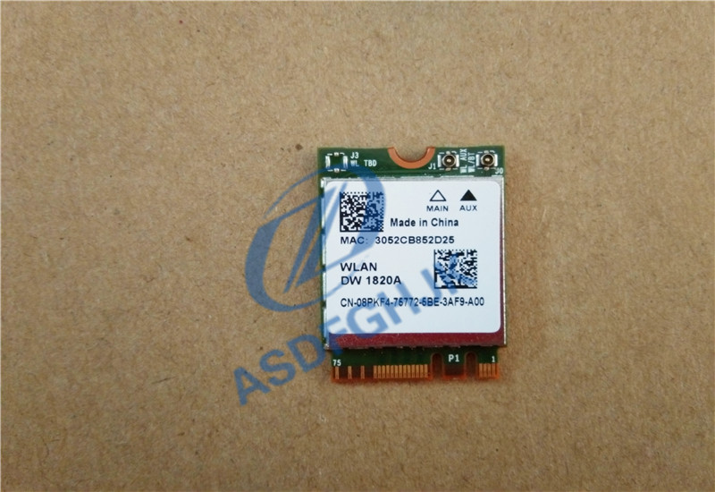 DW 1820A 08PKF4 8PKF4 802.11AC 867Mbps NGFF Bluetooth 4.1 Wireless Card For Broadcom BCM94350Z FOR Dell DW1820A WLAN CARD