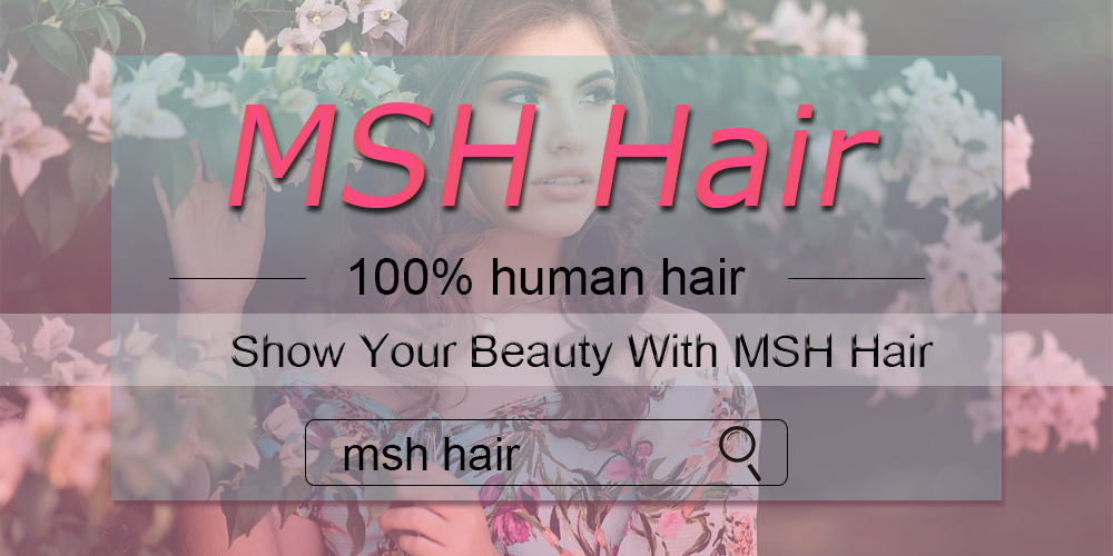 MSH Hair Brazilian Body Wave Human Hair Weave Bundles With 4*4 Lace Closure 130% Density Non Remy