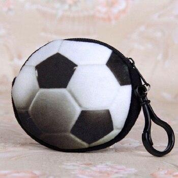 Monedero de felpa de forma redonda para mujeres monedero Lindo bolso de cambio mini bolso de mujer pequeña bolsa para niños de jardín de infantes