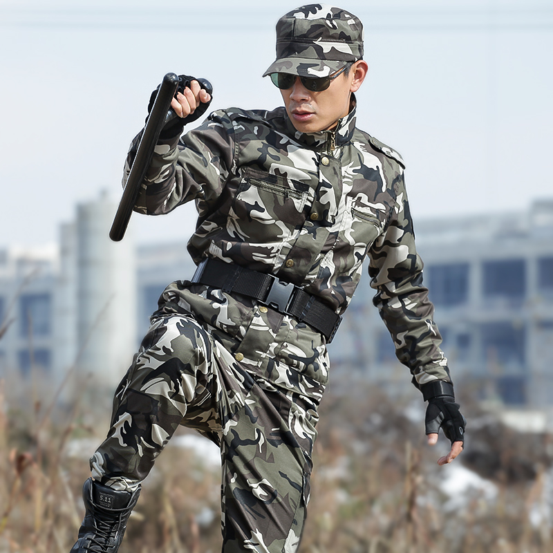 Camouflage Clothes Men's Sets Military Tactical Suit Army Casual Jacket and Pants Special Forces SWAT Soldier Cargo Suits CS