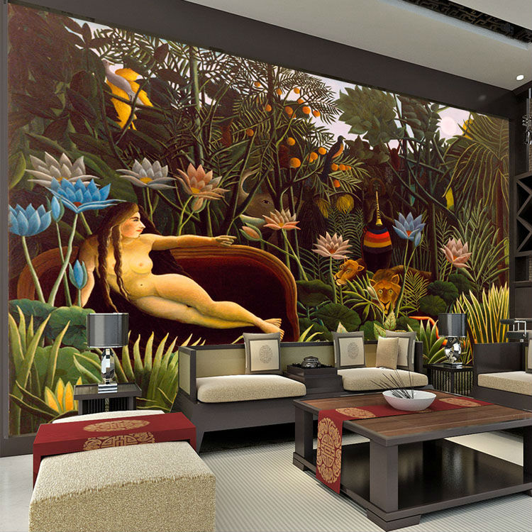 Buy the dream wall murals rousseau for 3d interior wall murals