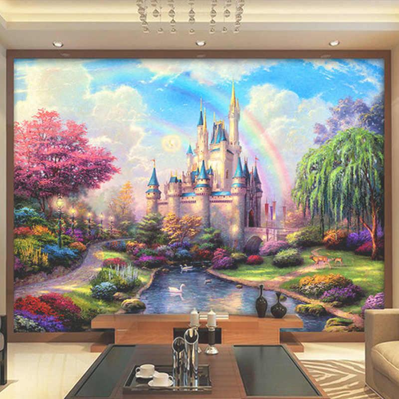 3D фотообои на заказ в европейском стиле для спальни, гостиной, телевизора, фона, 3D фантазии, замок, вход, 3D, домашний декор